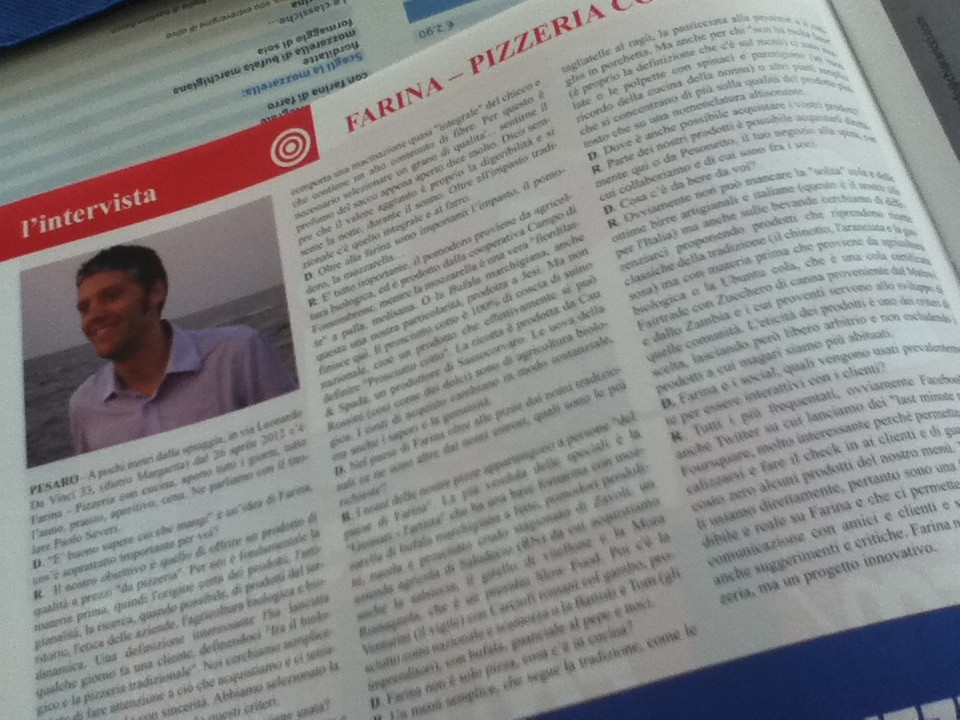 Intervista Farina - Pizzeria con cucina