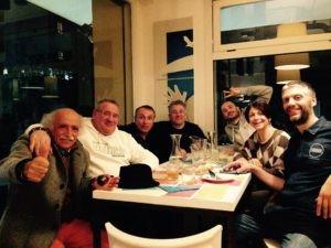 Lo staff di Birra Amarcord, Loris e Luciano di Drink's Services di Fermignano e Vittorio Beltrami (Gastronomia Beltrami - Cartoceto) e Paolo di Farina