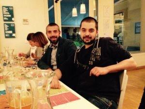 Fabrizio, nostro fornitore di latticini e i ragazzi del birrificio 61cento di Pesaro