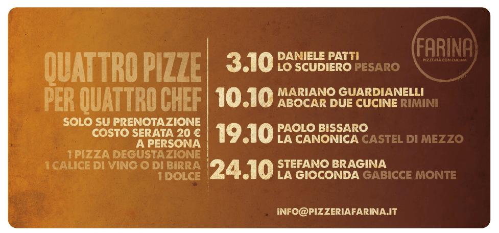 4 pizze per 4 chef