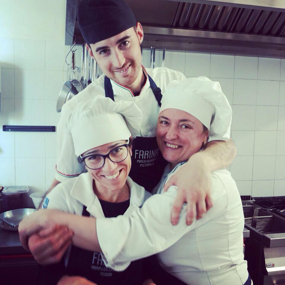 Mirco, Angela e Maria pizzeria farina pesaro