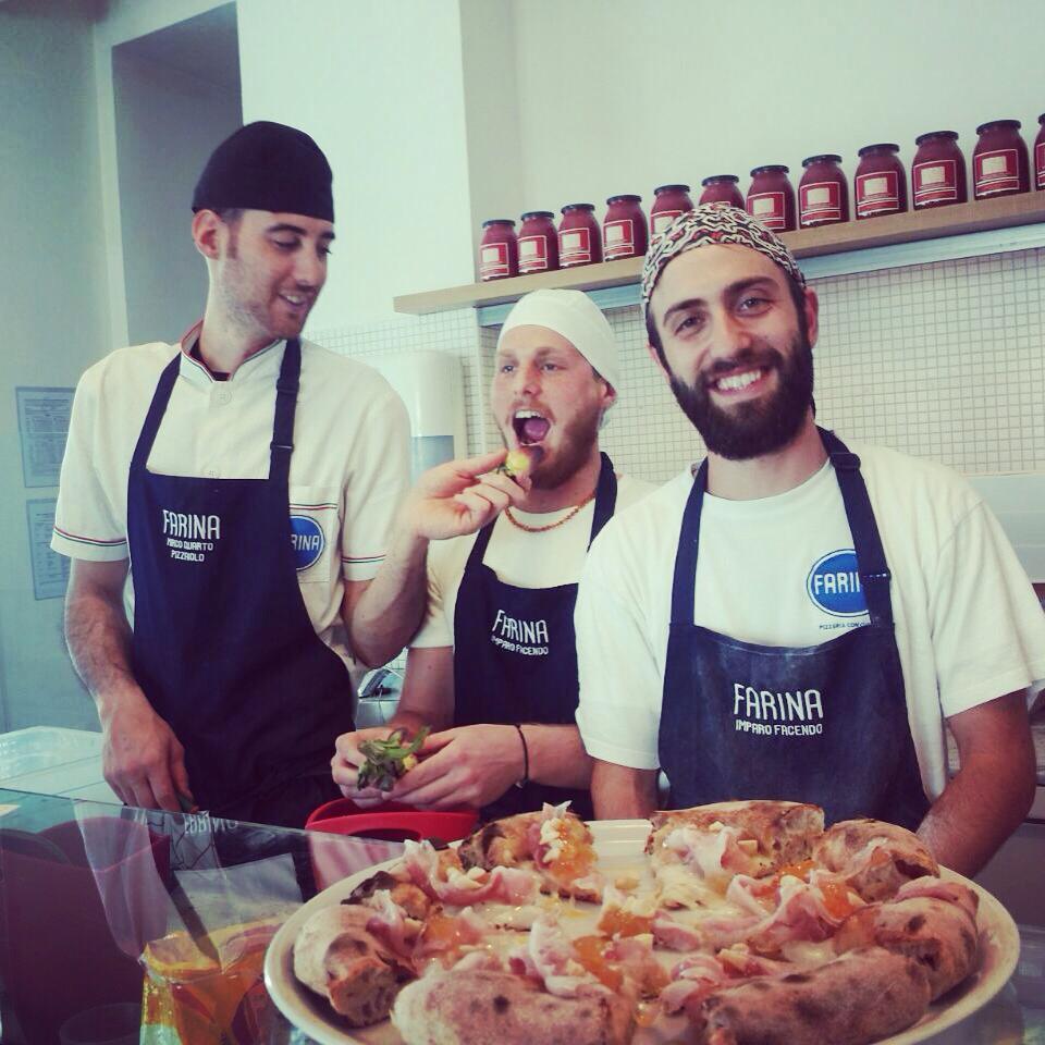 Alberto, Mirco e Armando pizzeria farina pesaro