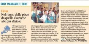 Farina sul Corriere Adriatico