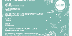 Calendario aperture festività Farina